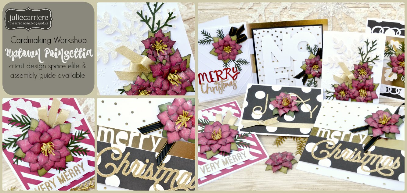 Uptown Poinsettia Cardmaking assembly guide EXPLORE only