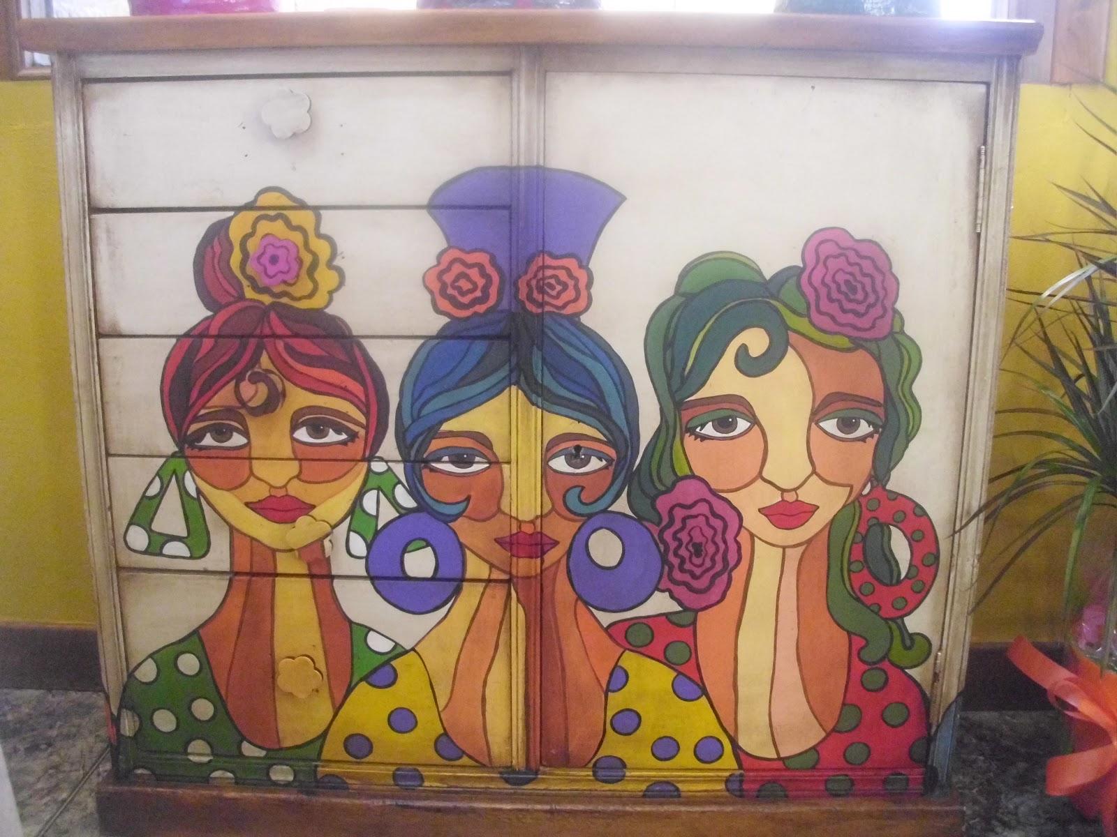 Artesan a en olite el txoko muebles reciclados for Pintura decorativa muebles