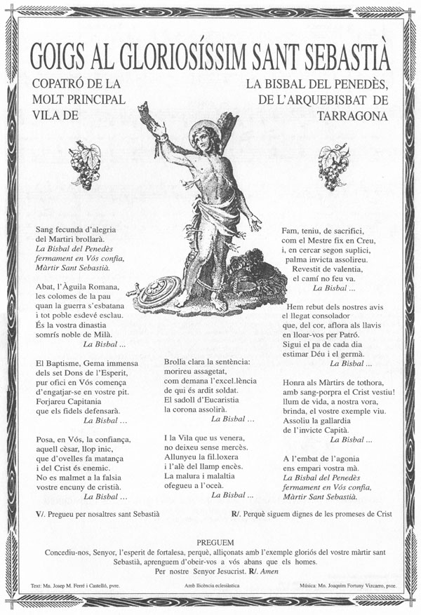 Goigs i devocions populars goigs a sant sebasti la - Tiempo la bisbal del penedes ...