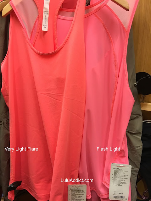 lululemon color-comparison very-light-flare-grapefruit-flash-light