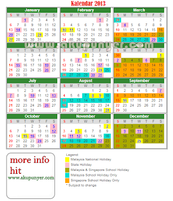 2015 Calendar Malaysia Public Holiday