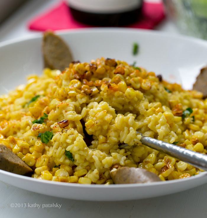 Sweet Corn Risotto Recipe — Dishmaps