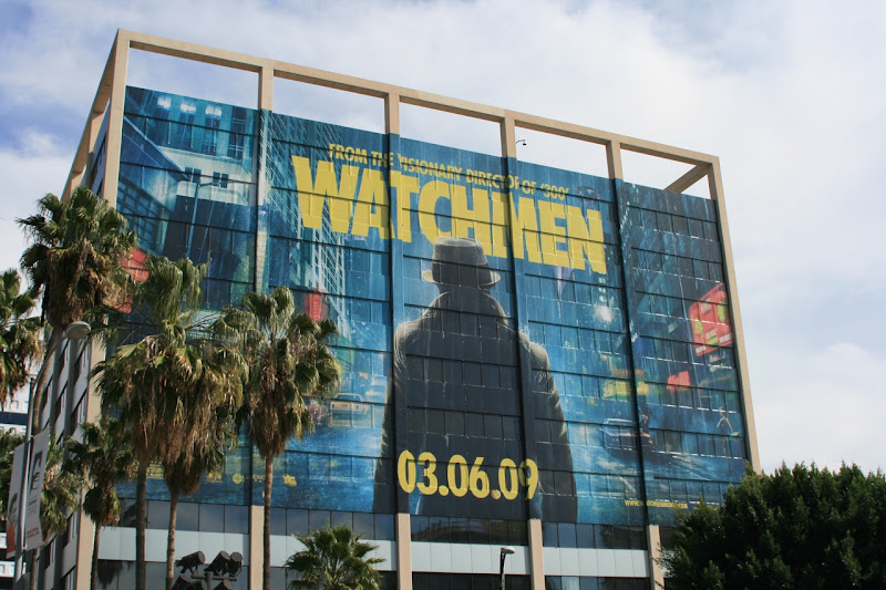 Giant Rorschach Watchmen billboard