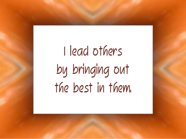 LEADERSHIP affirmation