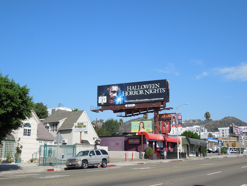 The Walking Dead Halloween Horror Nights billboard