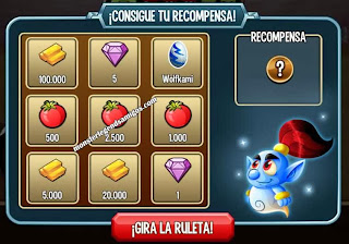 imagen del segundo premio de la ruleta del challenge battle de monster legends ios