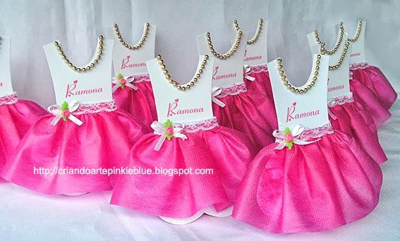 Populares Pinkie Blue Artigos para festa: Convite Vestido Bailarina FE95