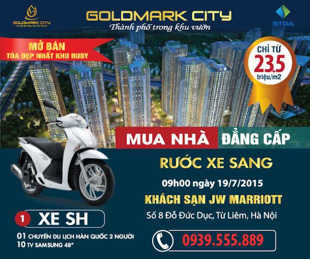 Thư mời tham dự lễ mở bán GoldMark City 19-07-2015