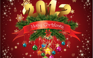 Free Download Merry Christmas & Happy New Year 2012 Wallpaper