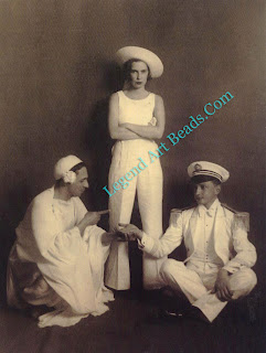 Fulco with his great friends of the 19ans and 19305, the Faucigny-Limoges, in fancy dress.