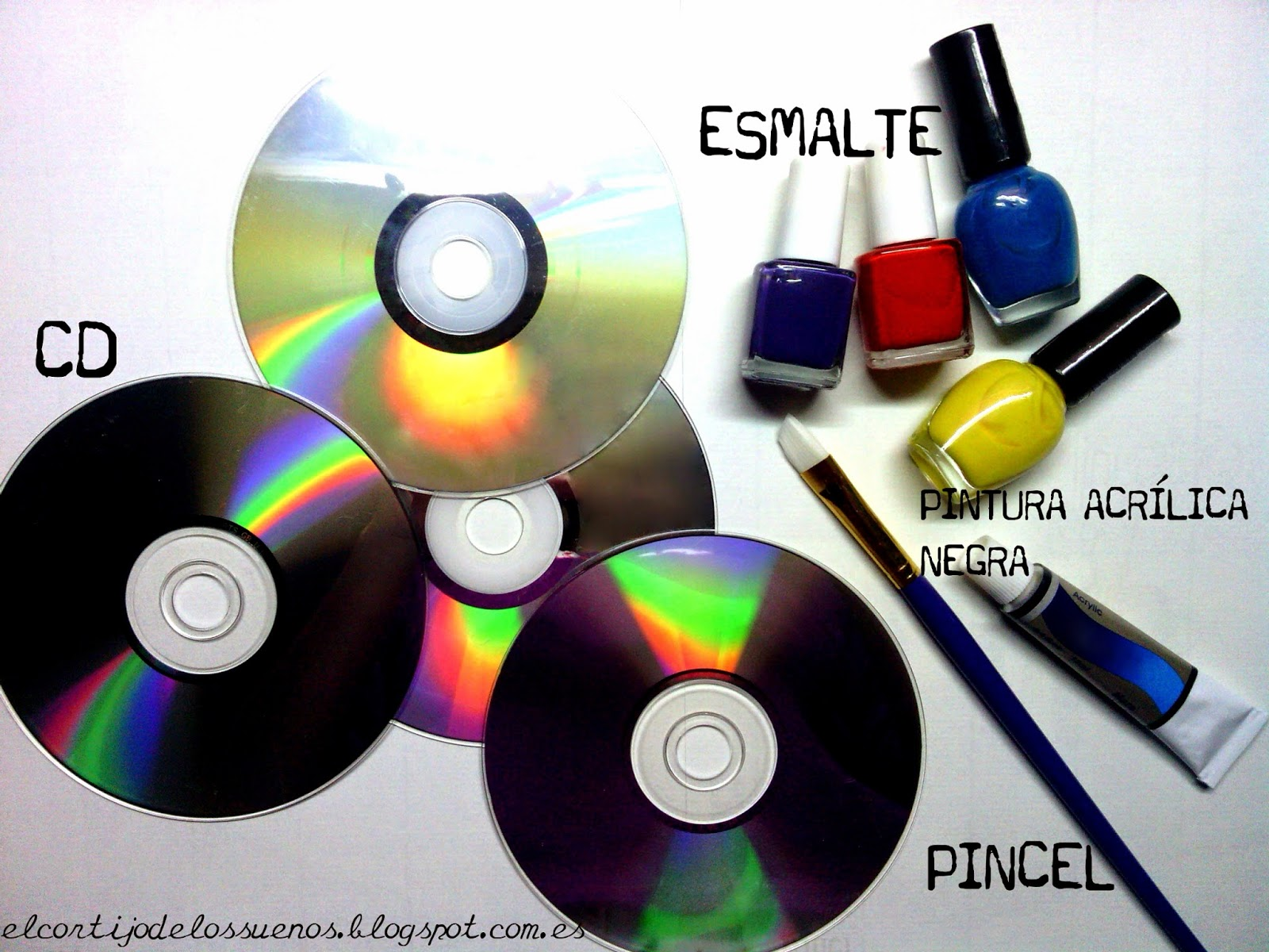 Discos De Vinilo Con Cds Manualidades