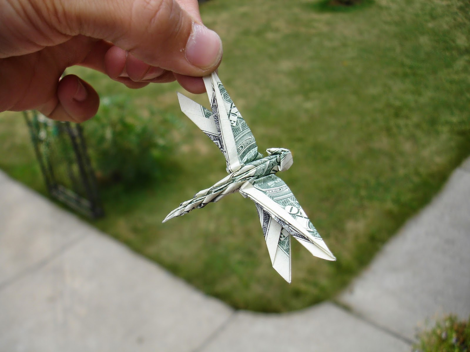 Money Origami Dragonfly Origami Flower Easy