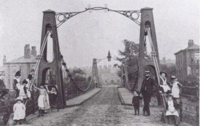 The Broughton Suspension Bridge, 1883
