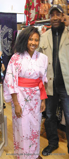 Kimono on young lady