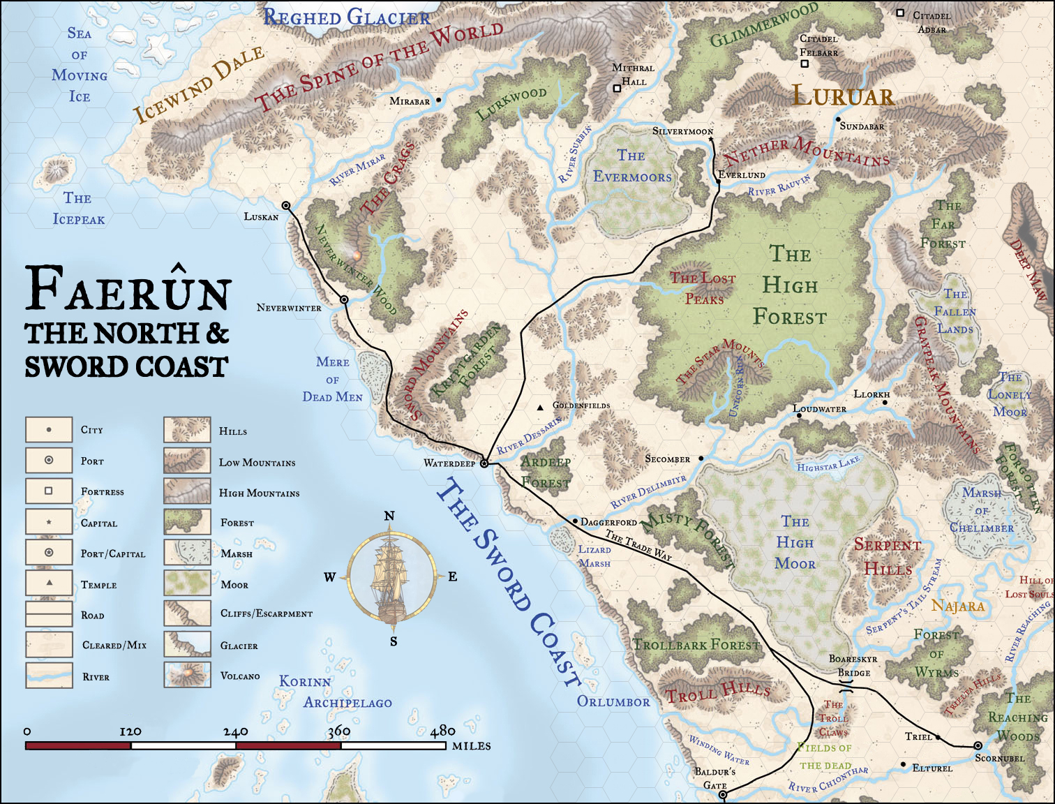 Faerun Hex Map Rpgnet Forums