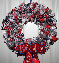 Stars N Stripes Rag wreath