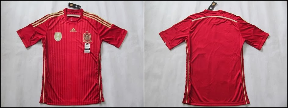 Jersey Bola Spanyol Home Man World Cup 2014