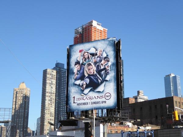 The Librarians season 2 billboard NYC