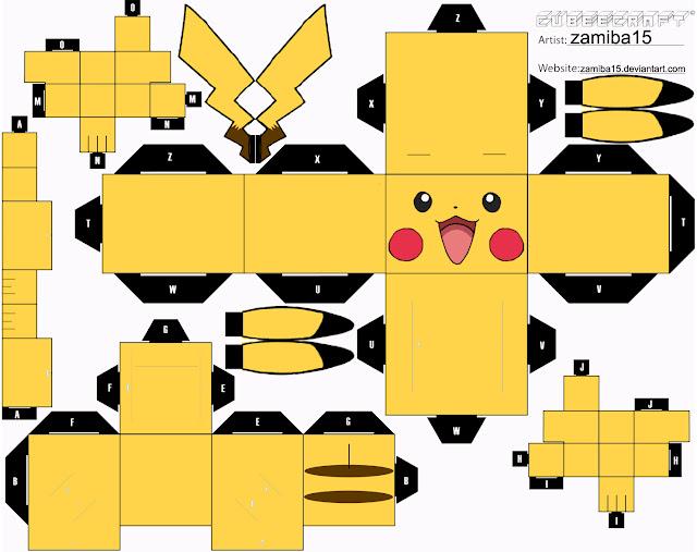 Papercraft Pikachu Pokémon para montar