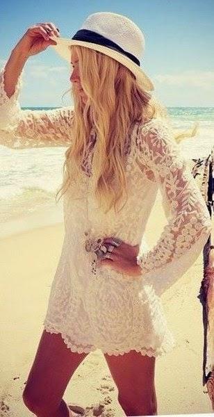 Mini White, Beautiful Dress, White-Black Hat, Lovely Accessories.