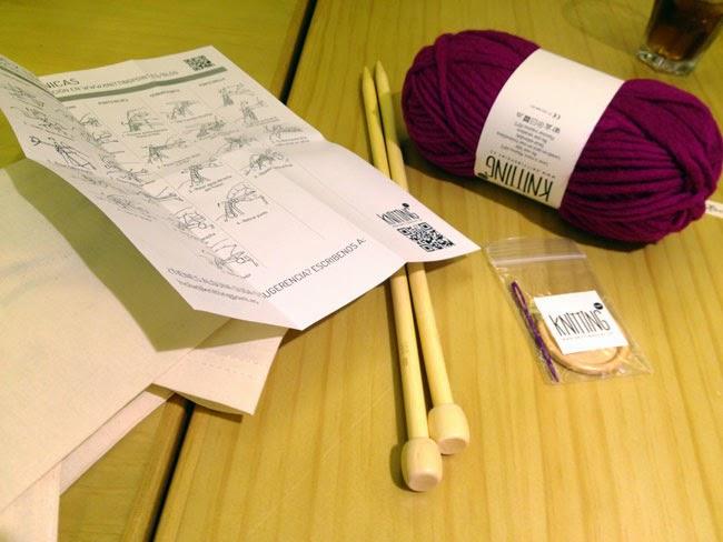 Knitting Point, Ondarreta La Moraleja, CC Los Porches, Madrid, Tejiendo, Clases de punto, Cuello en lana, Bloggers, Merienda y Knitting, Carmen Hummer, Blog de Moda