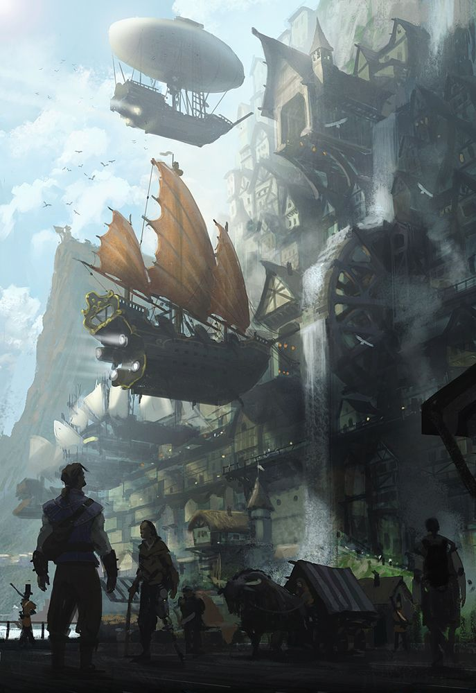 modal-structuralism - Steampunk City