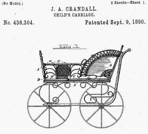 J.A. Crandall. Child's carriage. US Patent 436304. Patented Sept. 9, 1890.