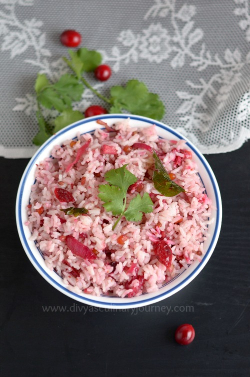 Quick and easy to make cranberry rice.