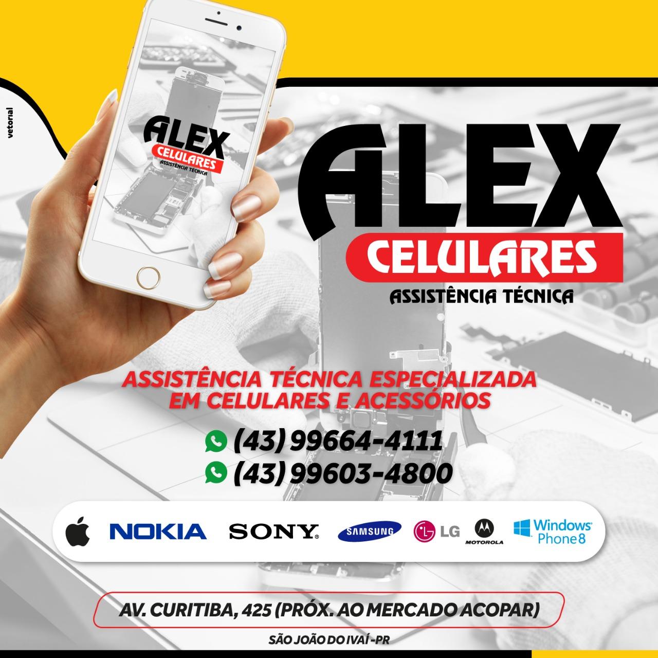 ALEX CELULARES - ATENDENDO SÃO JOÃO DO IVAÍ E TODA A REGIÃO!