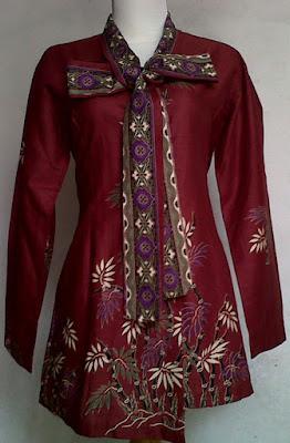 Model Baju Batik hamil Kerja guru Wanita