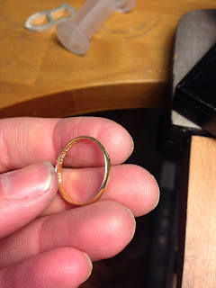 Wedding ring resizing made bigger