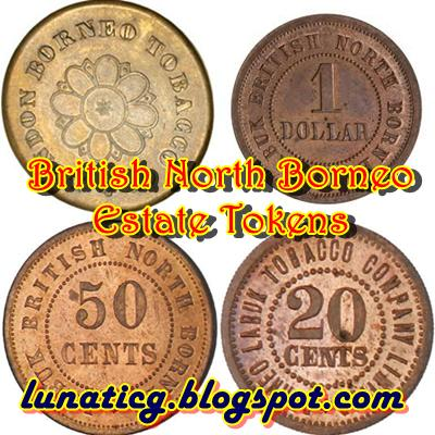 British North Borneo Estate Tokens