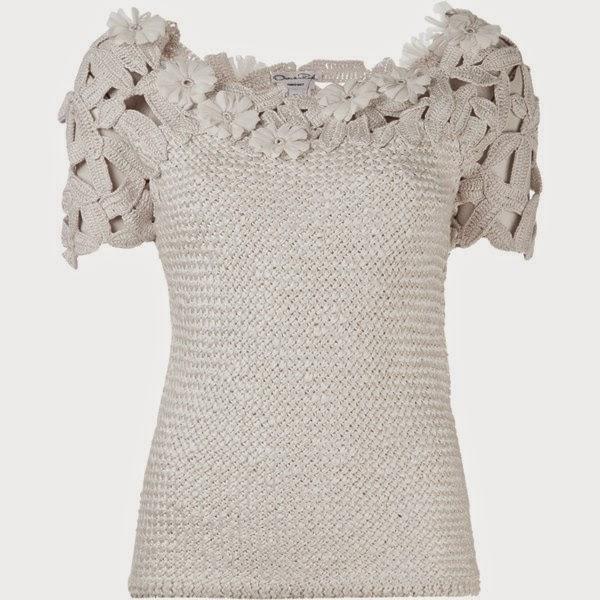 Detalhe blusa crochê