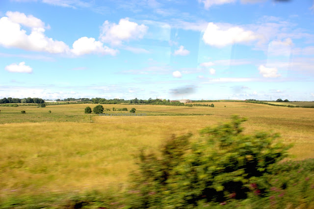 fields en route to Blackpool beach