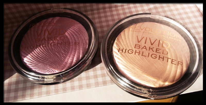 Vivid Baked Highlighter in Pink Lights and Peach Lights