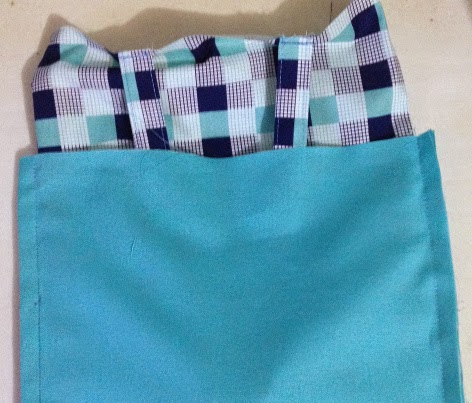 Place the main bag in the lining