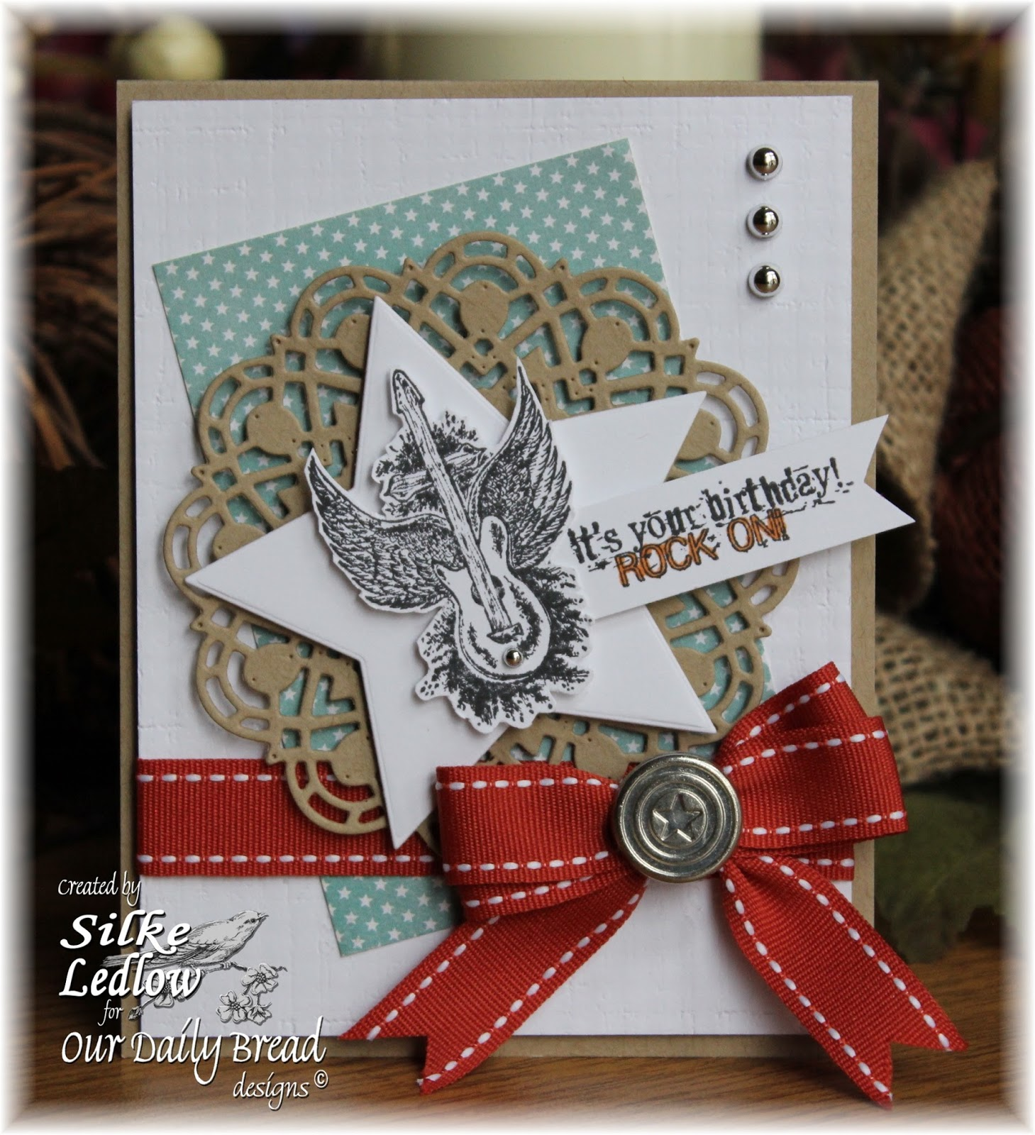 Stamps - Our Daily Bread Designs Rock Star, ODBD Sparkling Stars Dies, ODBD Custom Doily Die, ODBD Christmas Paper Collection 2014