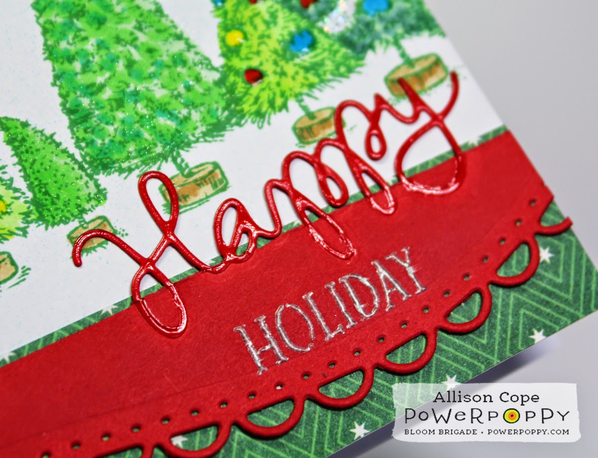 Happy Holidays by Allison Cope from Power Poppy