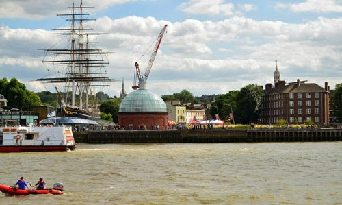 Cutty Sark seen from the Thames at Greenwich