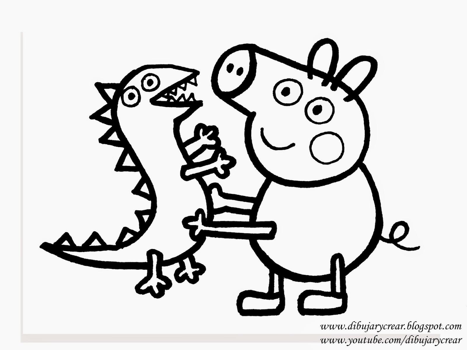 Dibujar y Crear Como Dibujar a George Pig Hermano de Peppa Pig