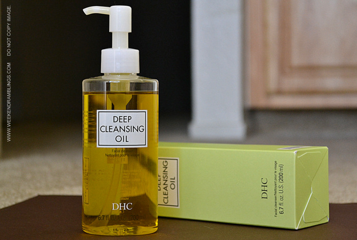 DHC Cleansing Oil Facial Face Cleanser Natural Method Indian Beauty Skincare Makeup Blog Reviews Ingredients How to Use Instructions