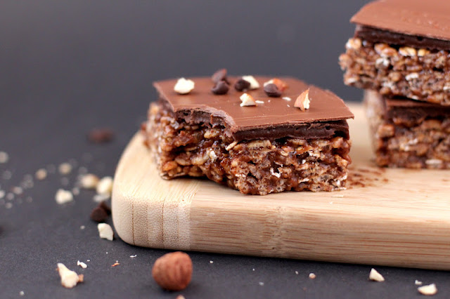 Healthy Nutella Krispy Treats
