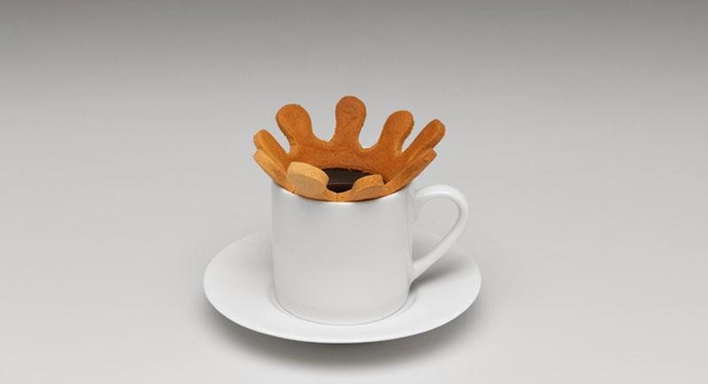 Splash gota de café, biscuit de Radi Designers