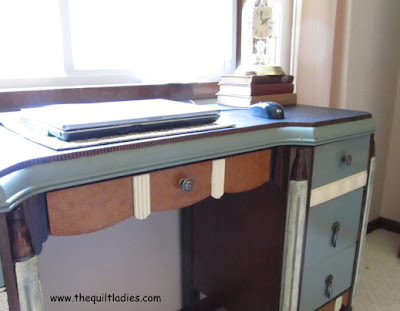 Painted Writing Desk Finished
