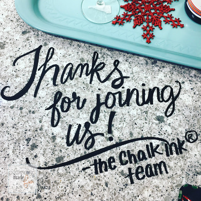Writing on countertop using chalk ink markers :: OrganizingMadeFun.com