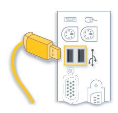 conexión cable usb