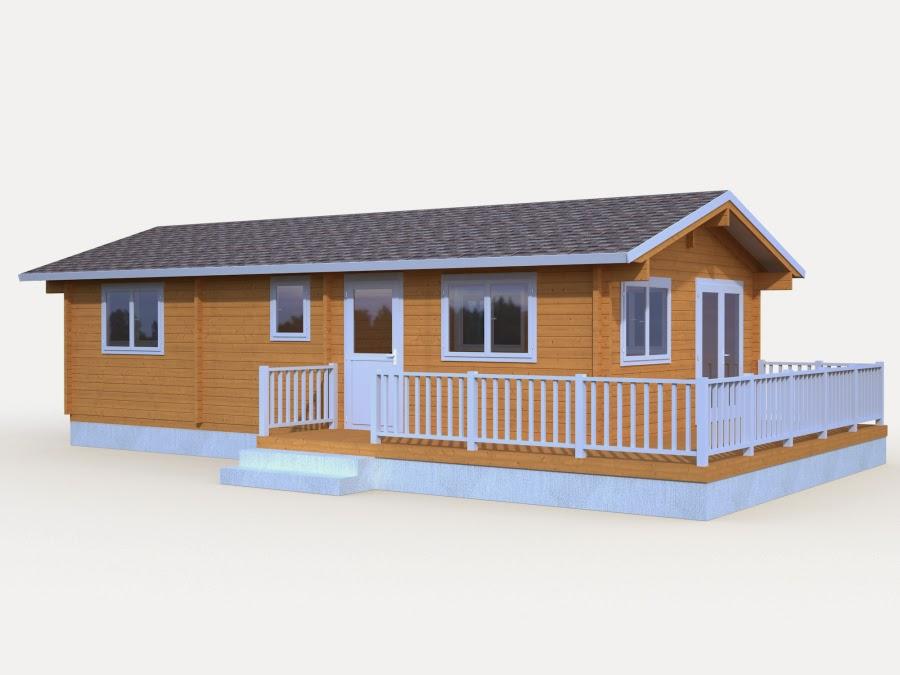 Casas de madera baratas bungalow de madera con terraza molly2 for Casas de madera baratas