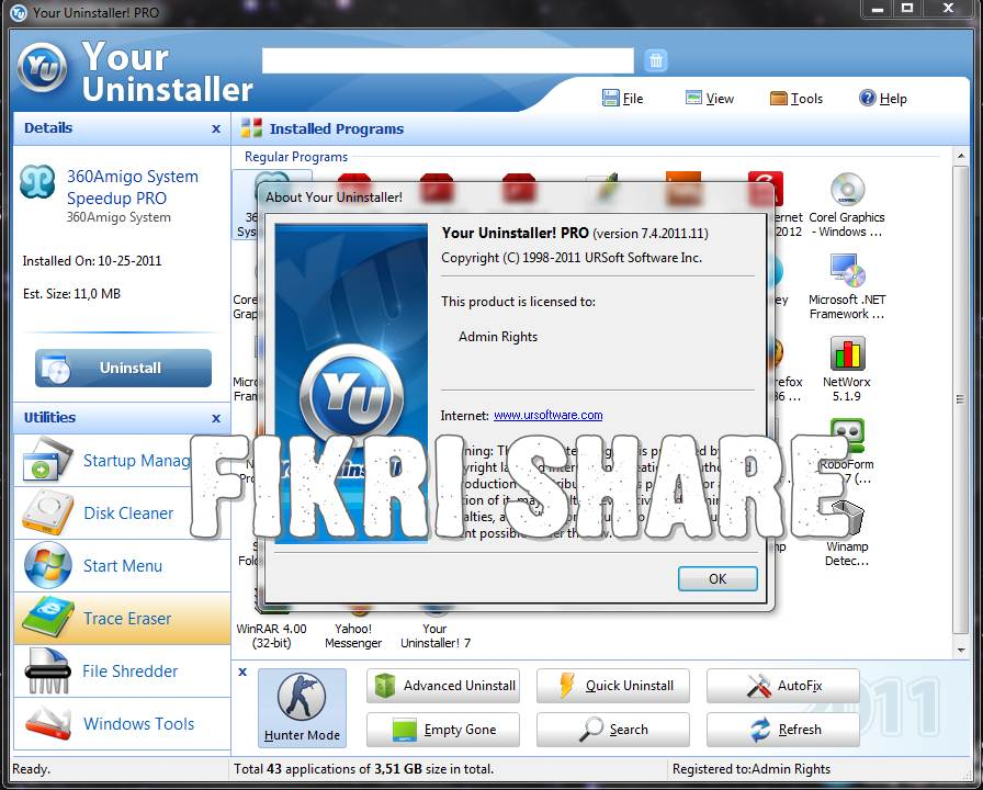 Your Uninstaller! Pro 7.4.2011.11 Full Version with Serial Number - software full ,crack ,key ...