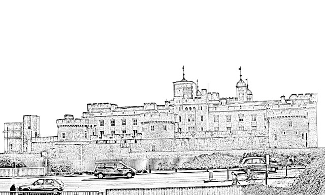 sketch of the tower of london