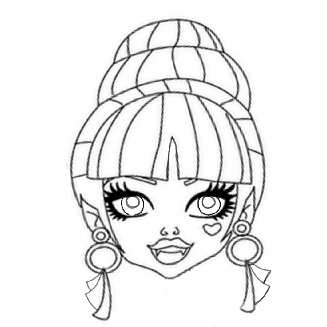 Dibujos y Plantillas para imprimir: Mascaras Monster High